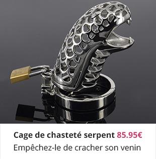 Cage de chasteté serpent