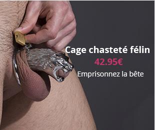 Cage chasteté félin